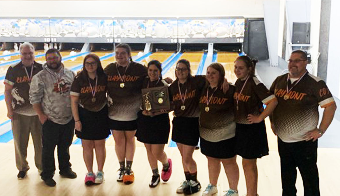Claymont Girls Bowling - Division 2 East District Champions