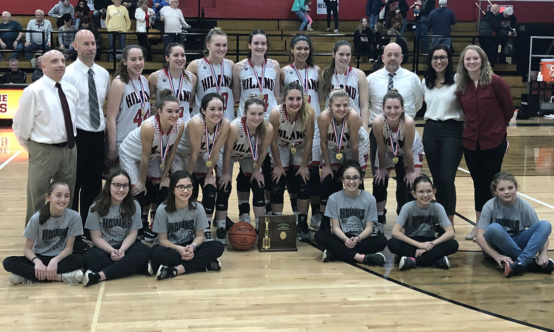 Hiland Girls Basketball - Division 3 East District Champions