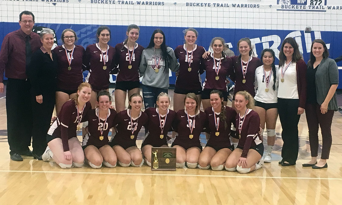 John Glenn Volleyball - Division 2 East District 1 Champions